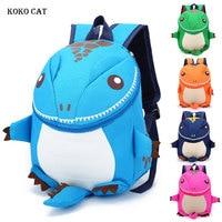 KOKO CAT 3D Dinosaur Backpack for Boys Kids Kindergarten SchoolBags Girls Animal School Bags Plush Rucksack Toddler Travel Bags
