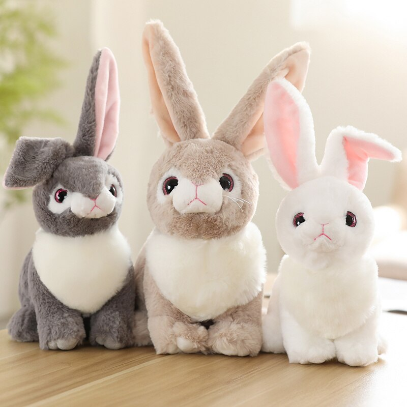 1pc 30/40cm Simulation Sitting Rabbit Plush Toys Lovely Dolls Stuffed Soft Animal Rabbit Toys Home Decorative Birthday Gifts 1pc 45 40cm simple pikachu pillow cushion plush toy dolls decorative pillows cartoon plush toys