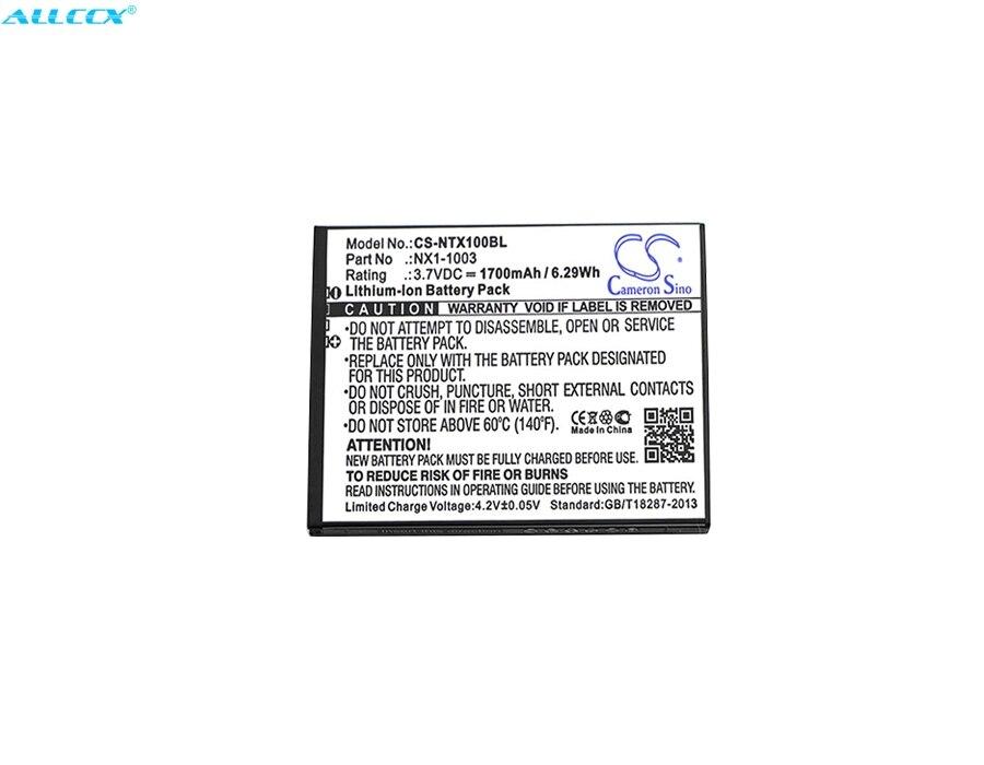 Batería de 1700mAh Cameron Sino 13220091, NAUTIZX1, NX1-1003 para Nautiz X1 de mano