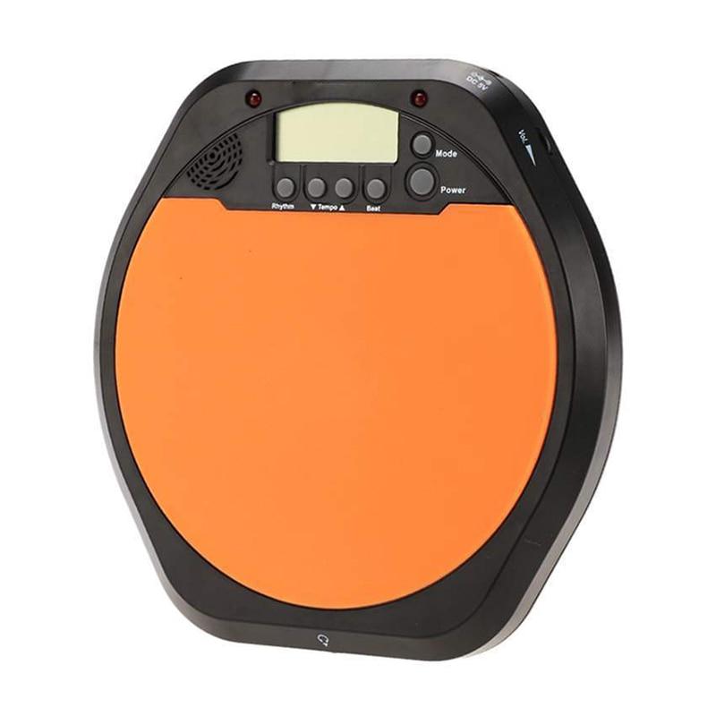 Digital Drummer Training Practice Drum Pad Metronome with Earphone & Batteries