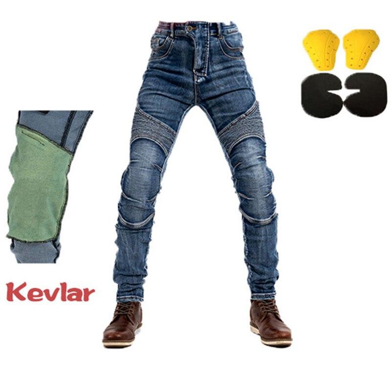 Moto équitation jean homme moto course pantalons décontractés anti-chute Kevlar pantalon avec équipement de protection