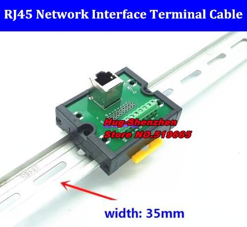 RJ45-M1-D RJ45 bloque de terminales RJ45 interfaz de red adaptador terminales de cable/placa de Terminal BRK8P8CSJ sin carril Din-20 piezas