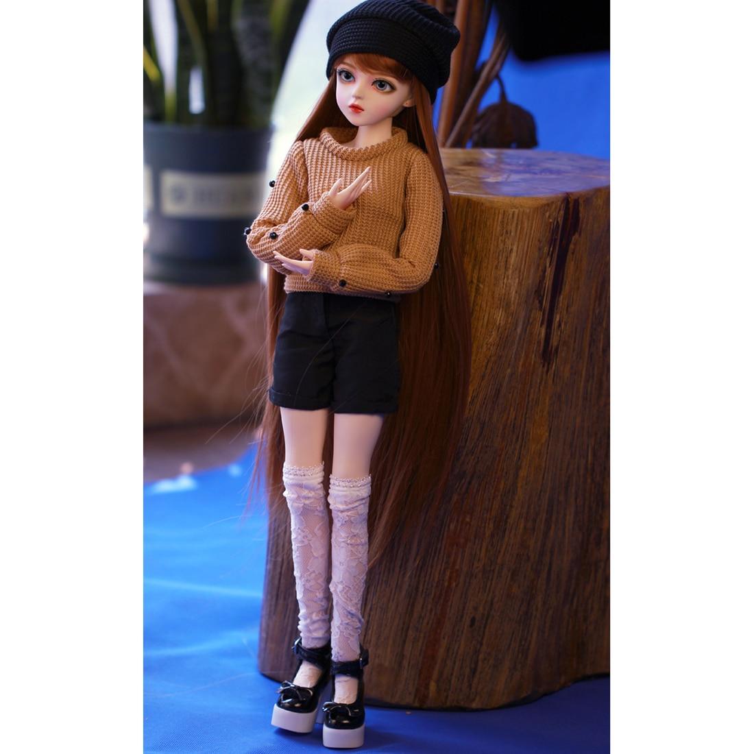 60cm 1/3 BJD Dolls Mechanical Joints Princess Doll Set - Kaka (Included Eyes + Handmade Makeup + Full Clothes As Shown)