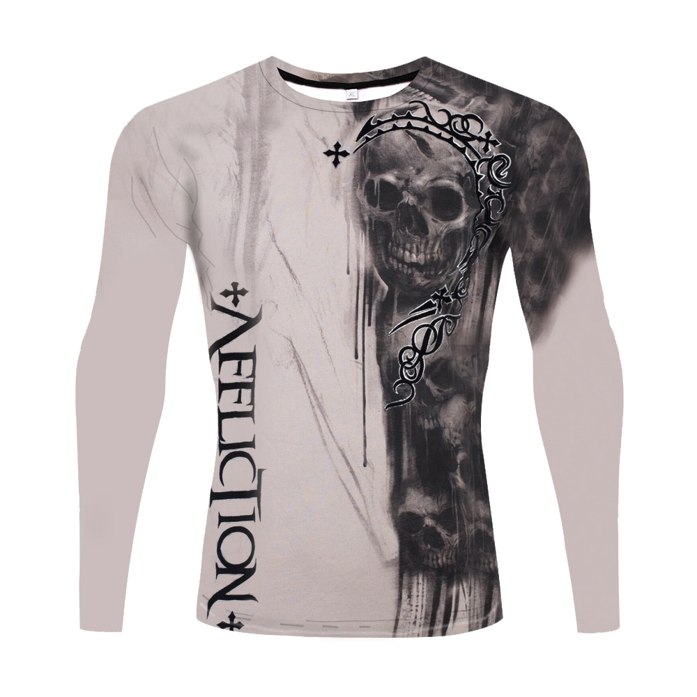 2021 Fashion Men's 3D Long Sleeve T Shirt 3D Printed Dazzle colour Long Sleeve Street Cool Clothe Men's Outdoor Casual T Shirt