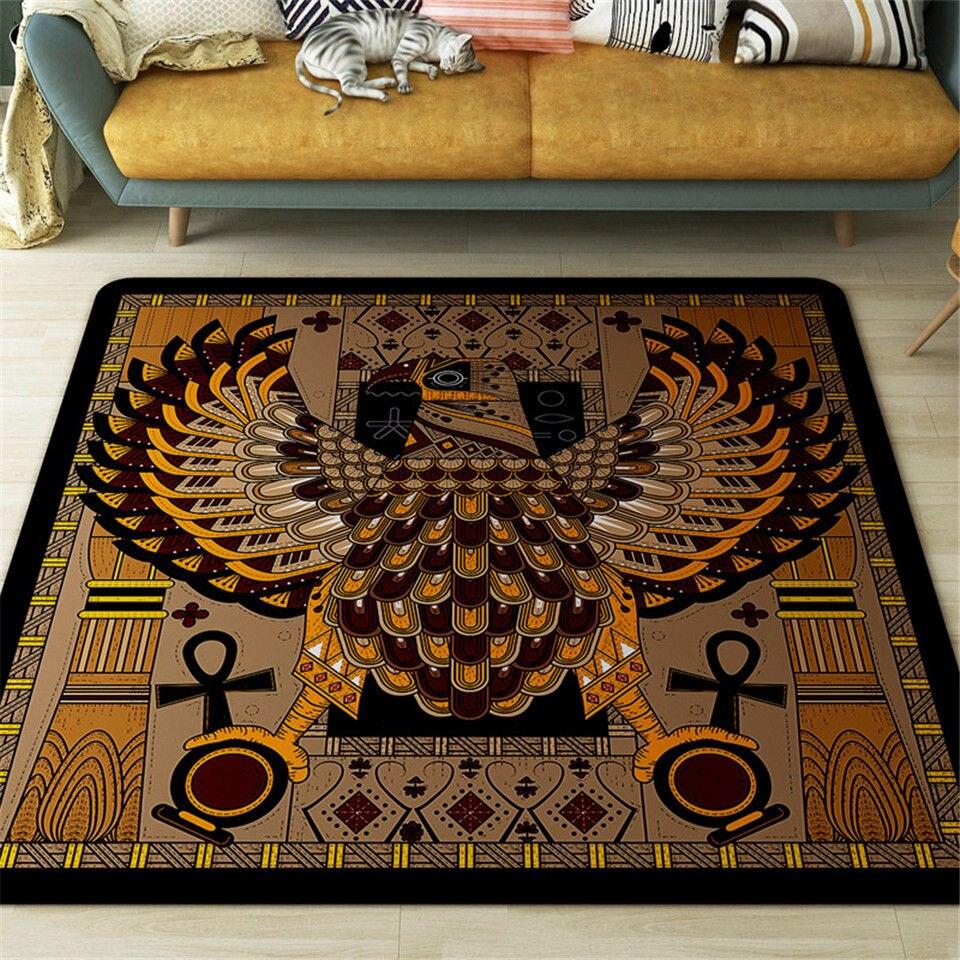 Morocco Brown Eagle Square Carpet Living Room Nordic Home Decor Coffe Table Chair Non-slip Mat Floor Carpet For Bedroom