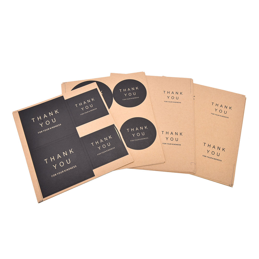 16 unidades/lote de etiquetas adhesivas con sello de etiqueta adhesiva Kraft, etiquetas de agradecimiento, etiquetas adhesivas para regalo, bolsa de regalo, caja de dulces para decoración, etiqueta de recuerdo de boda