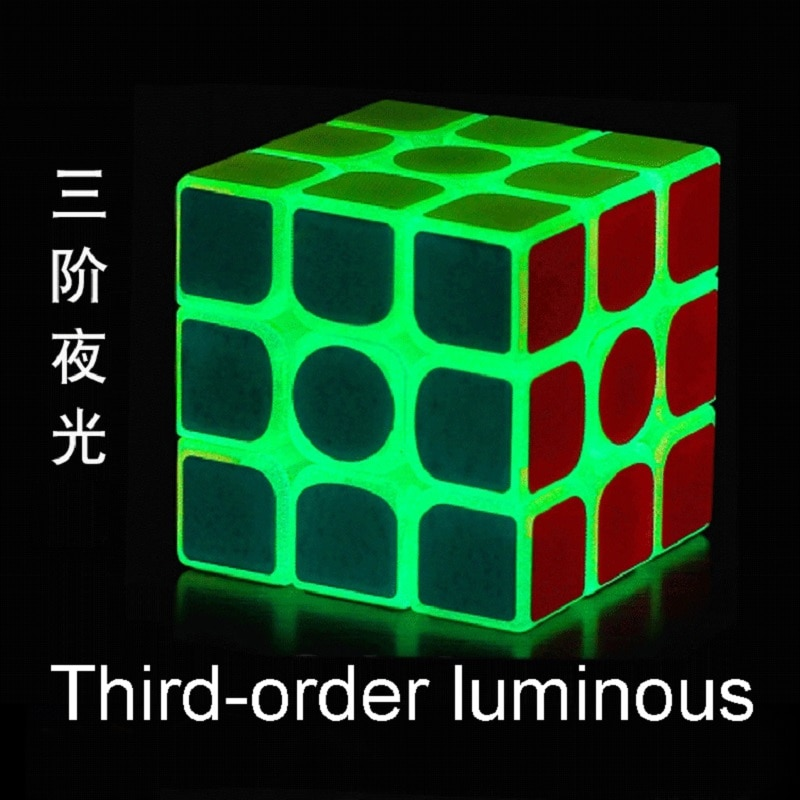 fidget Cube The third-order luminous cube children's educational square decompression toy gift mini educational anti-stress cube enlarge