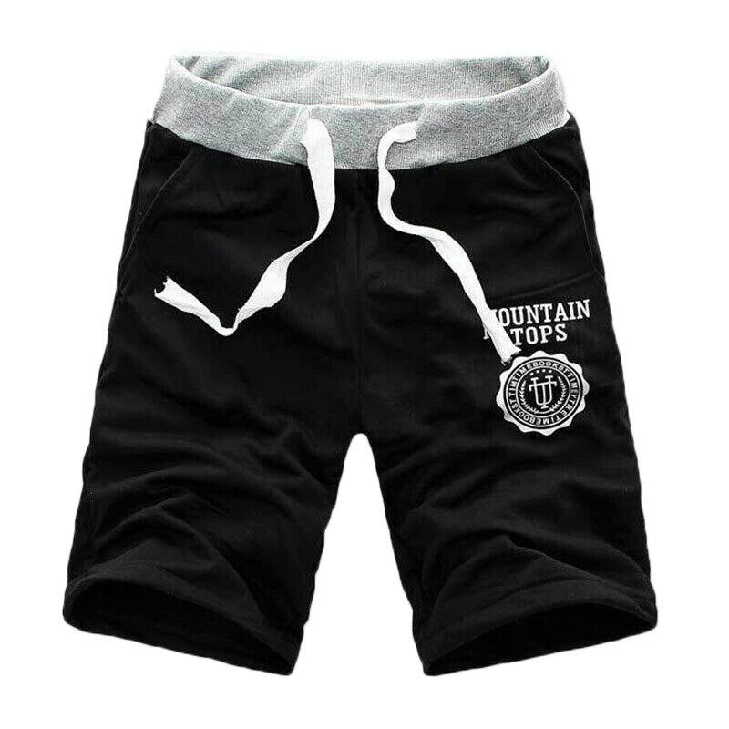 Calças masculinas shorts de carga calças casuais verão havaiano praia esporte corredores simples meia calças masculinas multi-bolso calças