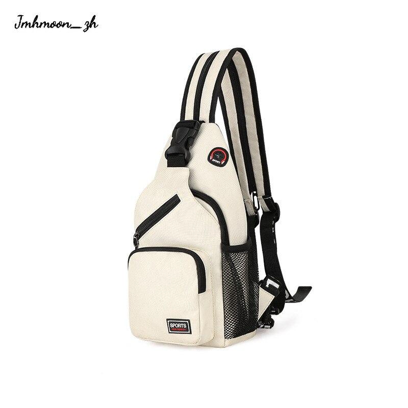 Women Small Backpack 2021 Casual Girls Chest Bag with Earphone Hole Female Backpack Multi-Functional Rucksacks Mochila Mujer