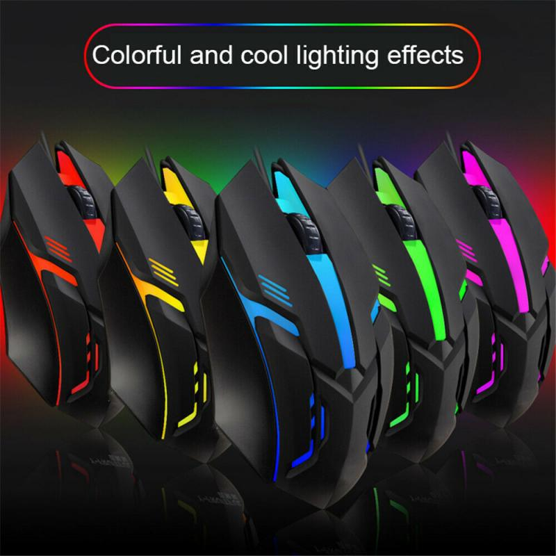 S1 Ergonomic Wired Gaming Mouse 7 Colors LED USB Computer Mouse Gamer Mice S1 Silent Mause With Backlight For PC Laptop Desktop недорого