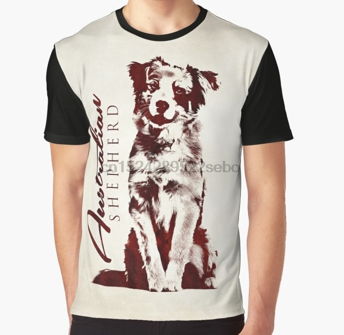Camiseta con estampado 3D para mujer, camiseta divertida para hombre, camiseta gráfica australiana de sheperd australiana
