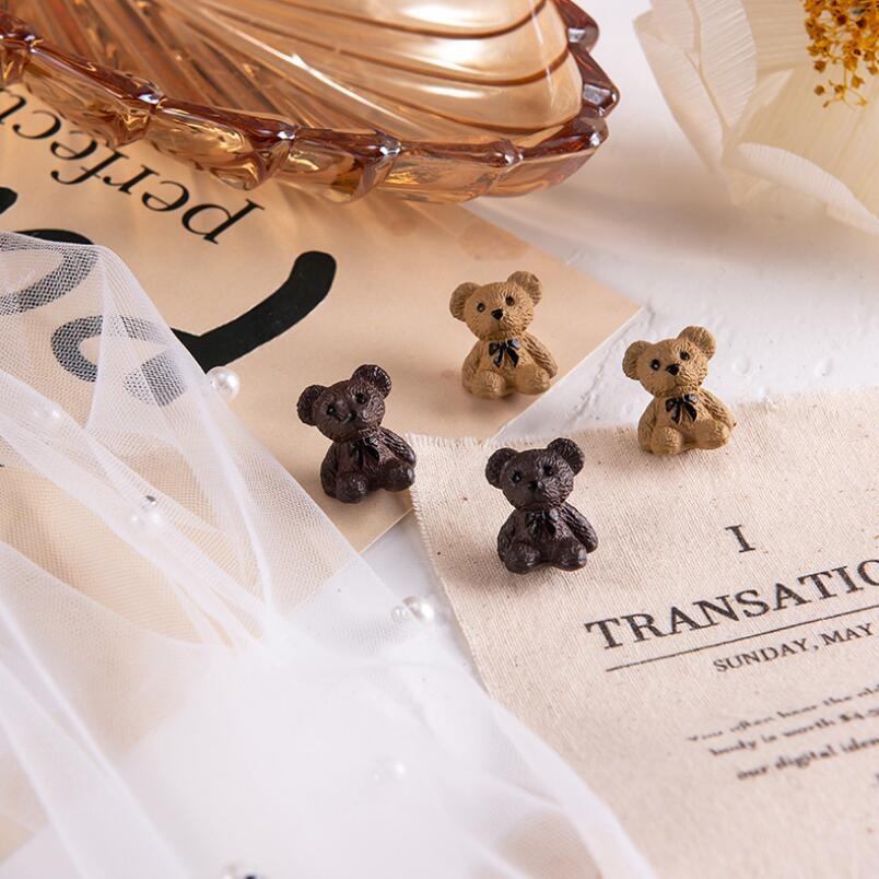 2020 Ins New sweet jewelry earings teddy Valentine's day gifts Love cute 3D bear earrings Vintage pendant jewelry student Girls