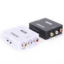 Adaptateur de détartreur HDMI vers AV boîtier de convertisseur Composite vidéo HD HDMI vers RCA AV/CVSB L/R vidéo 1080P Mini HDMI2AV prise en charge NTSC PAL