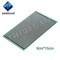 zhidegao 9x15cm double side copper prototype pcb diy universal printed circuit board green