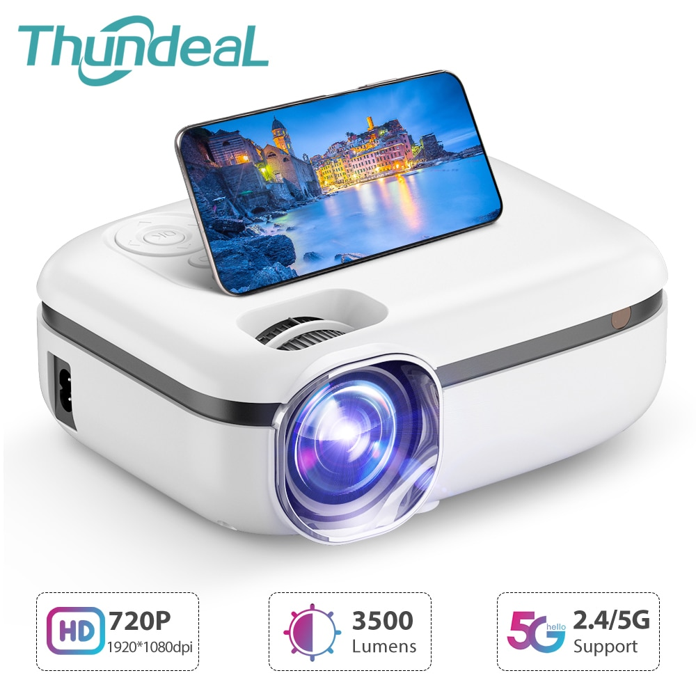 ThundeaL New Tech 5G WiFi Mini Projector TD92 Native 720P Smart Phone Projector 1080P Video 3D Home