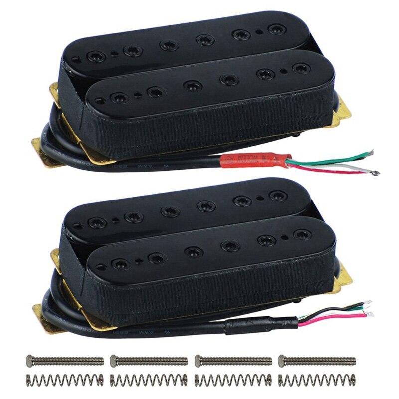 Guitarra eléctrica de doble bobina Humbucker Pickup Bridge/cuello Pickup pasivo con tornillos de ajuste de altura
