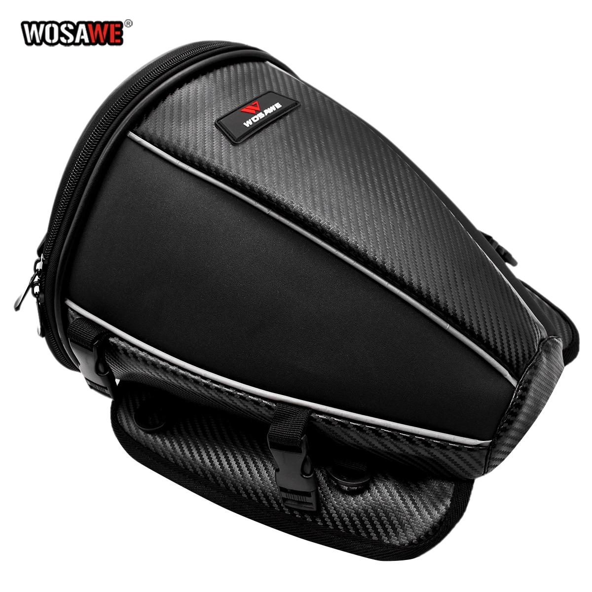 WOSAWE Waterproof Motorcycle Back Seat Bag Durable Reflective Rear Motorcycle Rider Backpacks Luggage saddle Bag 16L