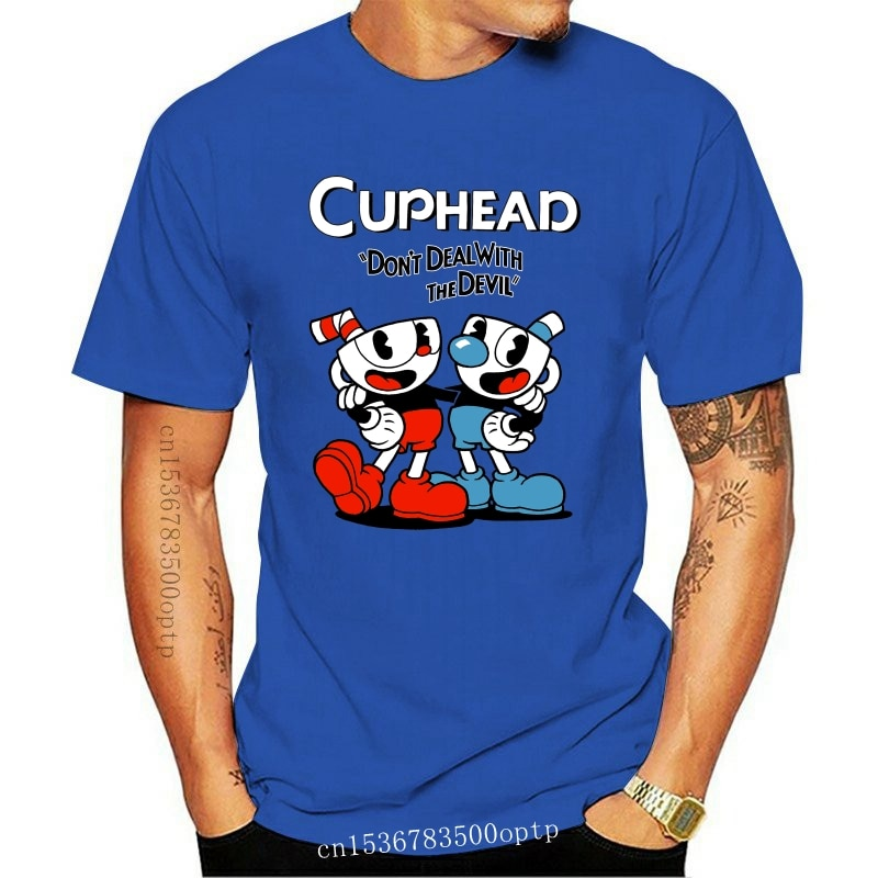 New 2021 2021 Cuphead Don't Deal With The Devil Video Game Gray T-Shirt 2021! (2E1 streetwear
