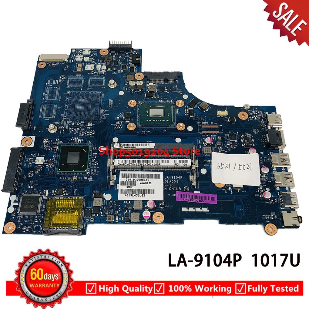 Placa base de computadora portátil CN-0GY07W 0GY07W GY07W para Dell inspiron 3521 15 5521 3721 placa principal 1017U VAW00 LA-9104P