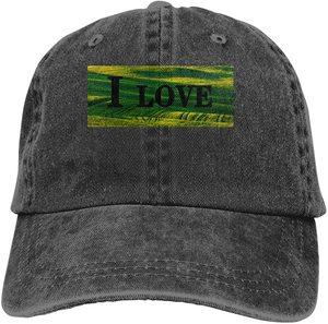 I Love Autumn Sports Denim Cap Adjustable Unisex Plain Baseball Cowboy Snapback Hat