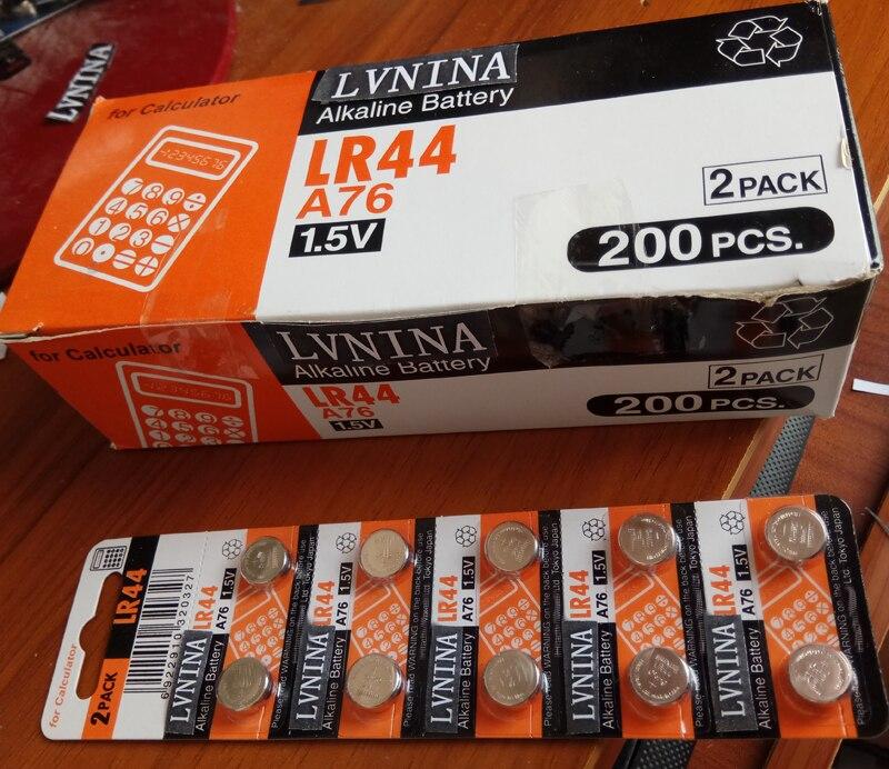 Großhandel 200 teile/los Original maxel LR44 AG13 A76 G13 LR44H Alkalische Schaltfläche Zelle Batterie Batterien Rechner batterie