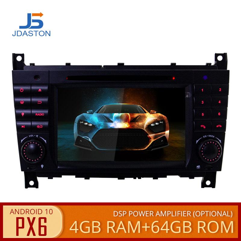 JDASTON PX6 Android 10 reproductor Multimedia para auto Mercedes Benz Sprinter W203 A180 Viano Vito clase coche 2 Din DVD GPS Radio