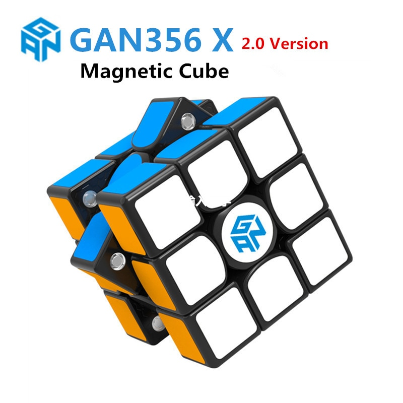 GAN 356 X 2.0 Magnetic Magic Cubes Profissional Gan 356X Speed Magnets Cube Puzzle GAN X cube gans356 X In Stock stock price puzzle