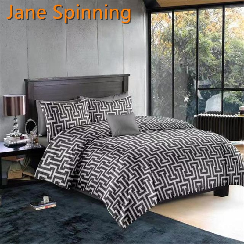 Jane Spinning Bettbezug 220*240 Geometrie Bettwäsche Tröster Abdeckung Set Duver Set Königin König SD02 # DD08 #