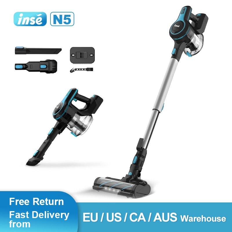 Cordless Vacuum Cleaner 12kpa Light Portable Handheld Vacuum for Home Car Pet Hair Carpet Hard Floor Furniture INSE N5