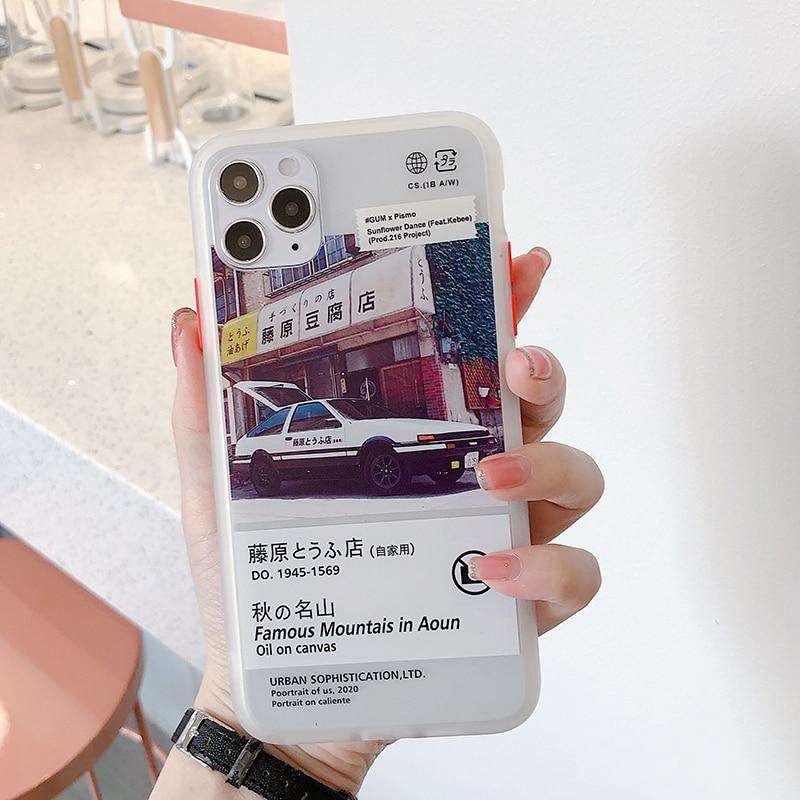 Japão anime inial d ae86 capa de telefone, para iphone 11 pro max se 7 8 plus, silicone macio, capa protetora para iphone x xs xr coque