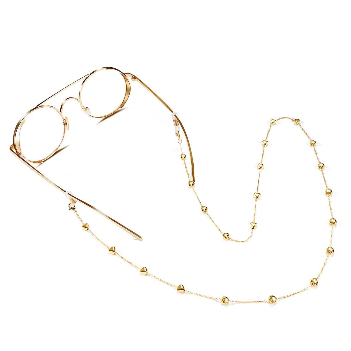 Correa de Metal para gafas de sol, cadena para gafas, cordón de cuerda, soporte antideslizante para gafas, accesorio para gafas