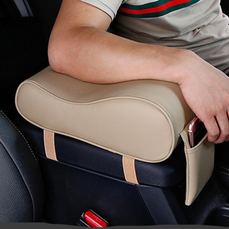 Nova almofada de braço do carro couro estilo do carro para toyota camry corolla rav4 yaris highlander/land cruiser/prado viz/reiz prius