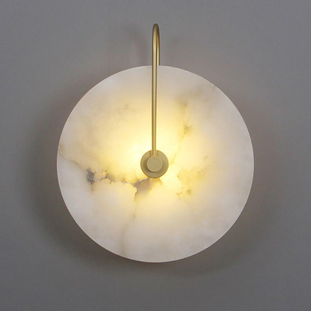 Sanmusion ديكور الجدار مصباح 15 سنتيمتر 25 سنتيمتر 220 فولت داخلي الرخام عاكس الضوء أضواء سطح شنت النمط الطبيعي شمعدانات جدارية led أضواء