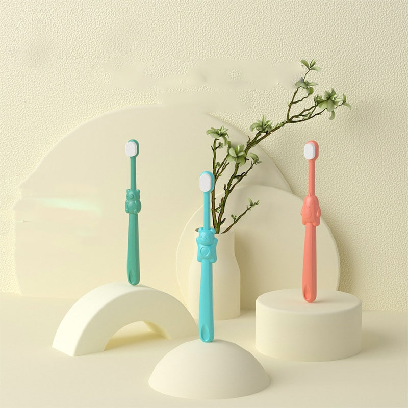 2 stücke Baby Nette Weichen borsten Zahnbürste für Kinder Zähne Cartoon Bär Ausbildung Zahnbürsten Baby Zahnpflege Zahn Pinsel