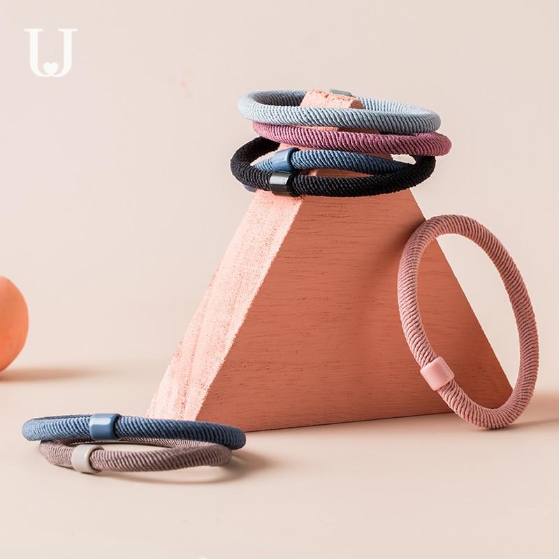 12 teile/satz Xiaomi Jordan & Judy Haar Ring Nette Kopf Seil Krawatte Haar Gummi Band Haarnadel Einfache Haar Seil Haar zubehör