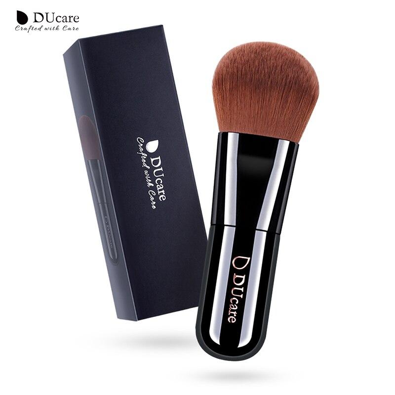 Pincel de base Ducare 1 Uds., brochas de maquillaje profesionales, brochas de maquillaje de alta calidad, pelo sintético marrón superior