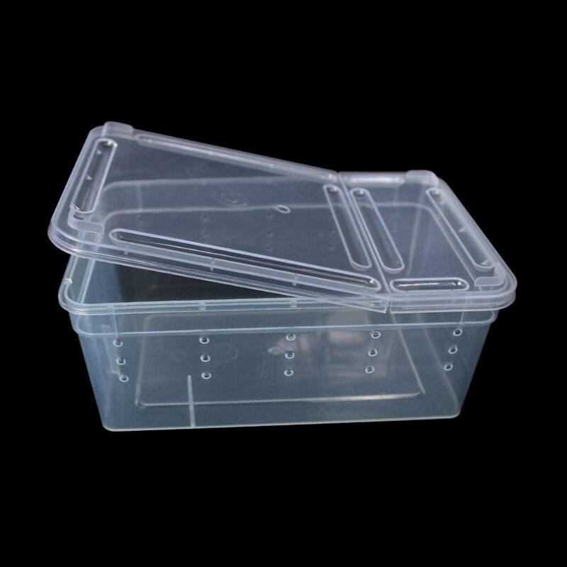 1 piezas de productos para mascotas reptiles caja de cría terrario guardia caja araña rana de tortuga de caja Anti-escape de cría caja