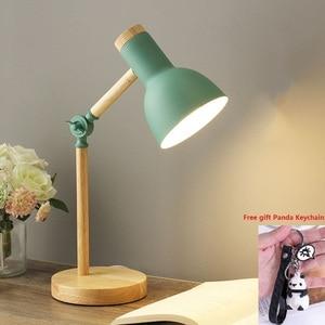LED Wood Adjustable Desk Light Eye Protection Study Room Dormitory Reading Light Flexible Bedroom Bedside Office Table Lamp 5W