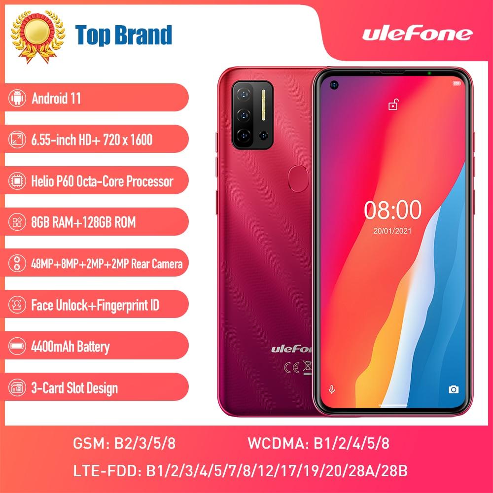 Перейти на Алиэкспресс и купить Смартфон Global Vision Android 11 Ulefone Note 11P, 8 ГБ + 128 ГБ, 4G-LTE, разблокированный телефон, 4400 мАч, 48мп камера, 6,55 дюйма, мобильный телефон