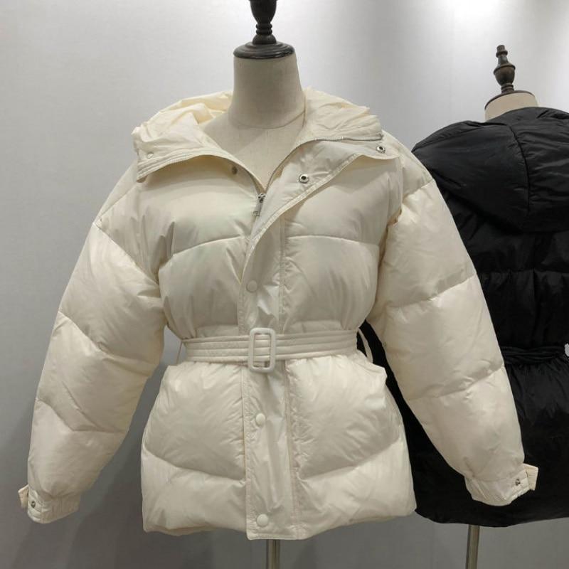 Фото - Winter New Fashion Women Parkas Hooded Three Color Solid Zipper Single Breasted Women Coat Winter Thick Sashes Female Jacket three women