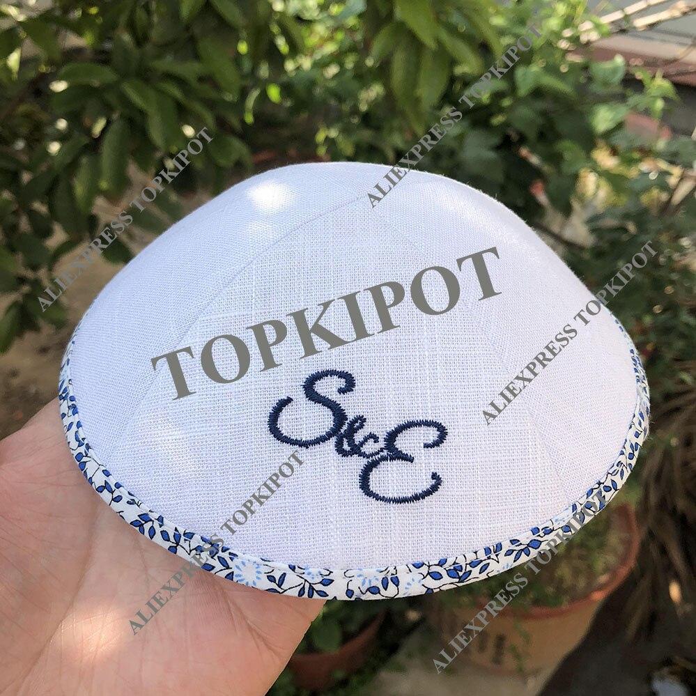 Boda de kippot bar mitzva kipá personalizado yarmulkes