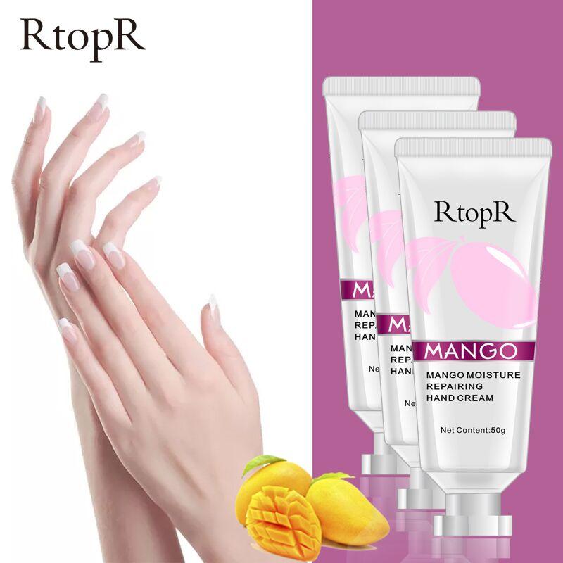 3PCS Mango Whitening Antibacterial Firming Moisturizing Hand Cream Deep Repair Skin Nourish Improves Dry Skin Care Health Cream