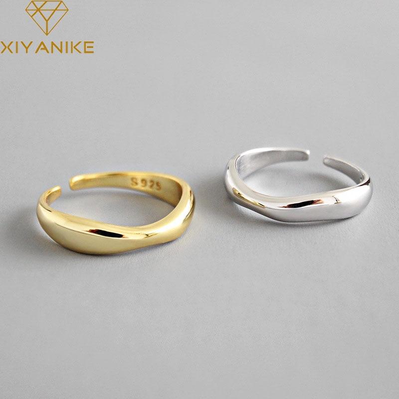 Кольцо-женское-из-серебра-925-пробы-регулируемое-Размер-17-мм