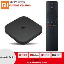 Xiaomi Mi Box S Smart TV Box Android TV 8.1 4K HDR Quad Core 2.4G/5.8G WIFI Google Cast Netflix dekoder 4 odtwarzacz multimedialny