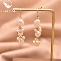 xlenag natural threelayer light white baroque irregular pearl earrings star ladies accessories jewelry aretes largos ge0963