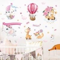 Autocollants muraux danimaux doux de dessin anime  etiquette de fond de chambre a coucher pour bebe  decor de maison  Stickers de decoration danimaux mignons pour pepiniere