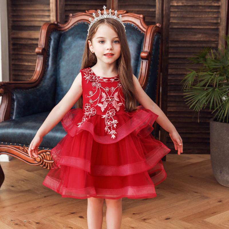 New Fashion Bridesmaid Dresses Wedding Dress For Girls Costume Long Princess Dress Children Clothing