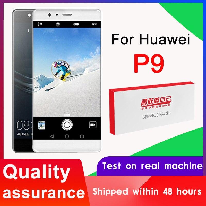 100% getestet 5.2 Display Ersatz mit Rahmen für Huawei P9 LCD Touch Screen Digitizer Montage P9 EVA-L09 L19 L29 LCD + Logo