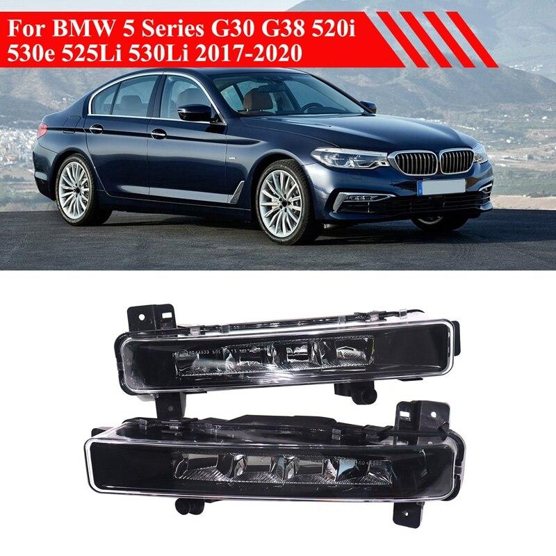 سيارة الجبهة الضباب ضوء مصباح LED النهار تشغيل ضوء ل-BMW 5 سلسلة G30 G31 G38 525Li 530Li 63179477171 63179477172