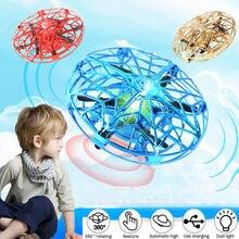 Mini Drone Quad Induction Levitation UFO LED Light USB Charging Kids Gift Toy RC Airplanes